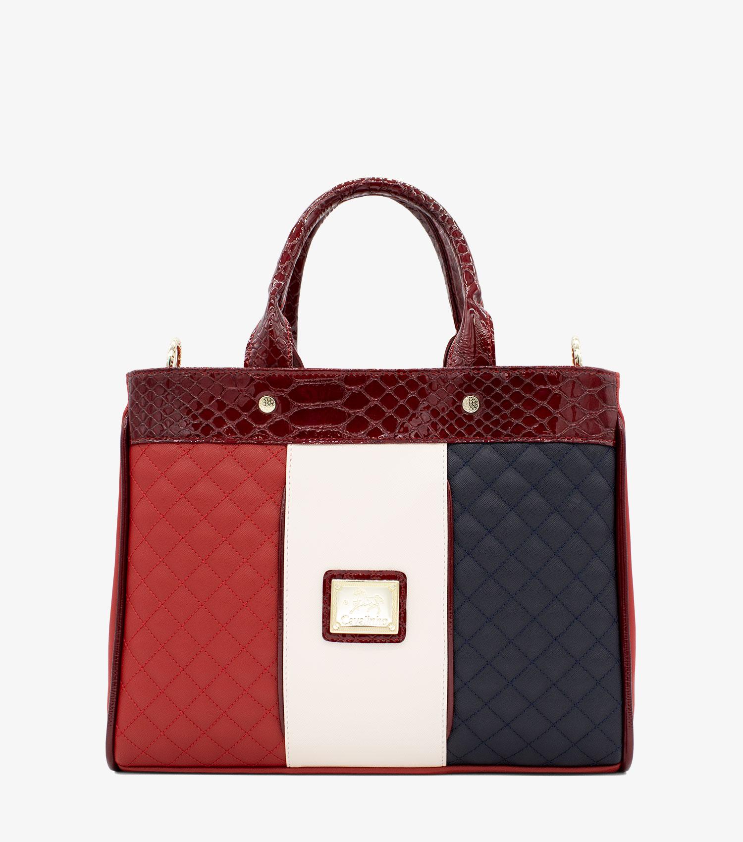 Navy Line Handbag